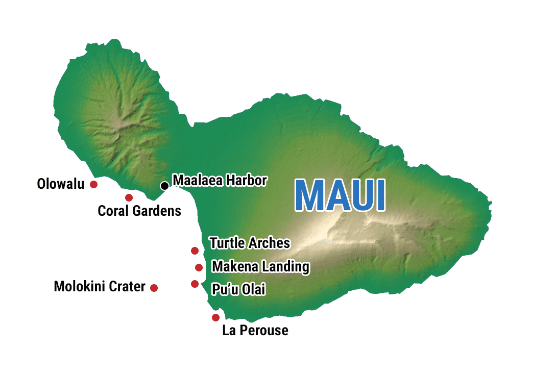 Maui Molokini Map